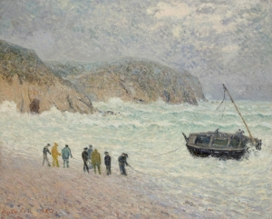 Le Bateau à la côte, Morgat
