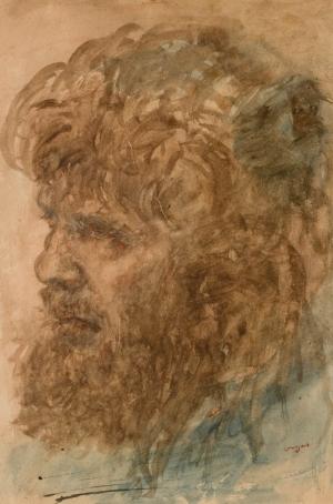 Portrait d'homme barbu ou Tête de moujik
