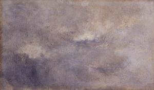 Ciel gris flou