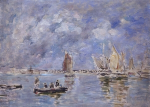 Barques et estacade