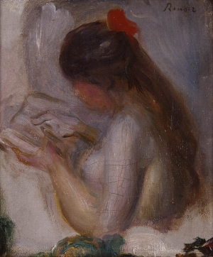 Portait de jeune fille lisant