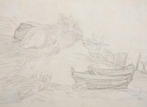 Barques sur une dune
