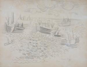 Bateaux dans l'estuaire du Havre