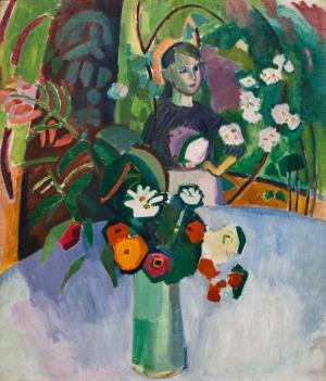 Jeanne dans les fleurs