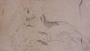 Étude de lionne (recto), Etude de lion  (verso)