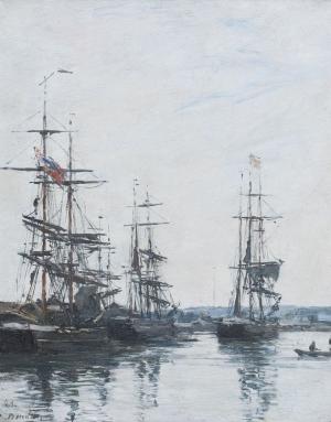 Voiliers dans le port de Deauville