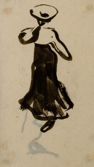Femme marchant