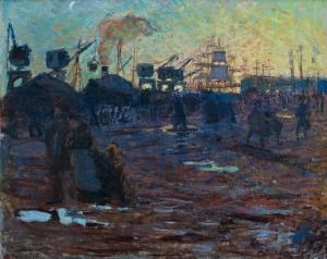 Étude pour « Fin de journée au Havre »