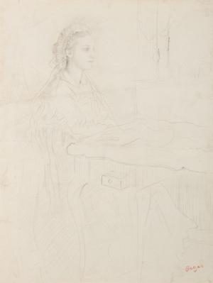 Marguerite Degas ou Femme en bonnet orné de dentelle