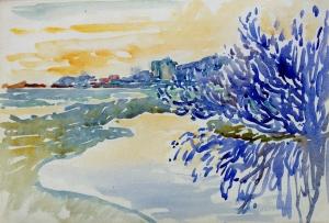 Côte provençale, Arbuste au bord de l'eau