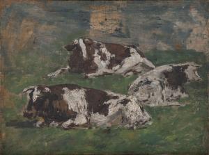 Trois Vaches couchées (verso du B 190)