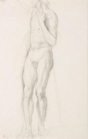 Homme nu debout de trois quarts face (Étude pour « La Fille de Jephté » ?)