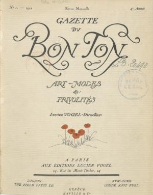 """Croquis pour """"La Gazette du Bon Ton"""""""