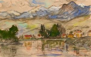 Montagnes et rivière en Dauphiné