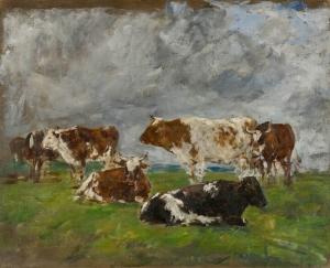 Groupe de vaches dans un pré
