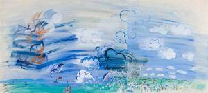 Vue du Havre à l'arc en ciel