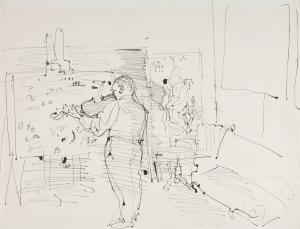 Le Violoniste dans l'atelier