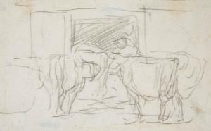 Vaches rentrant à l'étable