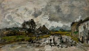 Route de village en Bretagne