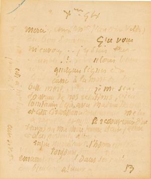 Lettre de Eugène Boudin à Pieter van der Velde, 3 décembre 1894