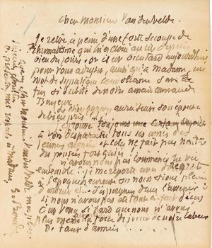 Lettre de Eugène Boudin à Pieter van der Velde, 24 janvier 1895