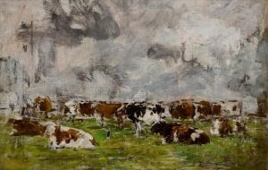Etude de vaches sur deux lignes